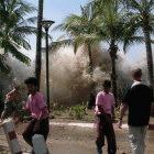The Indian Ocean tsunami of 26 December 2004 hitting Ao Nang, Thailand; the new tsunami warning system in the region aims to avoid a similar disaster in future