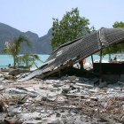Damage from the 2004 tsunami