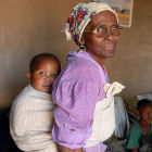 AIDS orphan and grandmother, South Africa