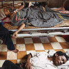 HIV/AIDS patients in a hospital in Cambodia