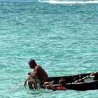 A fisherman in the Caribbean