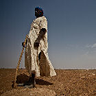 A herder in Africa