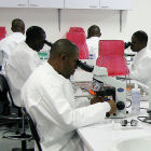 African researchers in a laboratory