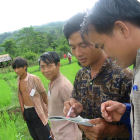 Agricultural researchers in Laos, South-East Asia