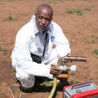 Agricultural researcher in Kenya