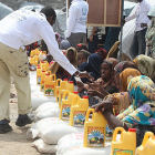 Aid distribution in Somalia
