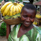 Girl selling bananas, Uganda