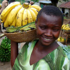A girl selling bananas in Uganda