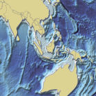 Bathymetry map of South-East Asia