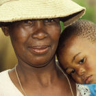 Woman and child from Botswana