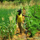 Woman farmer in Burkina Faso