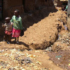 Children in an African slum
