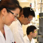 Chinese researchers in a laboratory