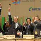 Closing of the COP10 meeting in Nagoya, Japan