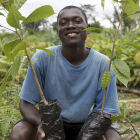 A cocoa farmer in Cte d'Ivoire