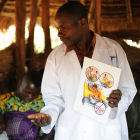 A health worker in Africa