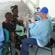 Cuban aid workers set up health centre help for Haitians