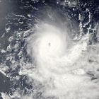 Satellite image cyclone