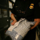 Customs officer with counterfeit drugs
