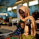 Woman with child at Dadaab refugee camp