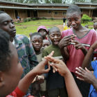 Deaf school kids chatting, Burundi