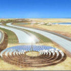 A vision of solar plant in Sahara