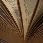 Pages of a dictionary