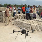 Tests of drones in Haiti