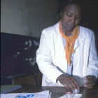 An Ethiopian doctor conducting research