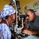 An eye exam in Sierra Leone