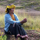 Farmer in Potato Park, Peru