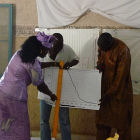 A training session for farmers in Senegal