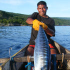 A fisherman in Timor-Leste