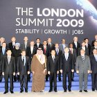 Heads of the G20 delegations at the beginning of the summit