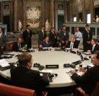 The G8 meeting in 2001