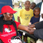A mobile HIV testing centre in Uganda