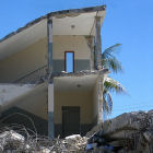 A building destroyed by the Haiti earthquake
