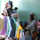 A maternal health clinic in West Africa