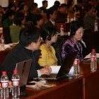 Delegates at the symposium on Science Communication and Scientific Policymaking