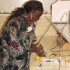 Scientist at a research centre in Bel Air, Senegal