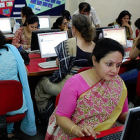 People accessing the Internet in India