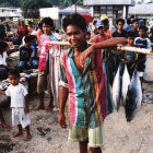 Indonesian fish vendor