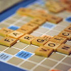 Scrabble board spelling 'jargon'