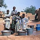 Children collecting water in Mali