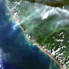 Landsat satellite image of Indonesia
