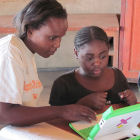 Literacy lessons in Zambia