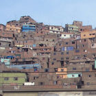 A slum on the edge of Lima, Peru