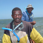 Men off the coast of Kenya