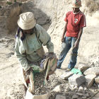 Workers at a quarry in Madagascar