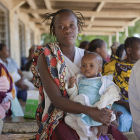 Mother & child at health centre in Kenya